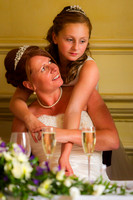 Mother and Daughter wedding day embrace